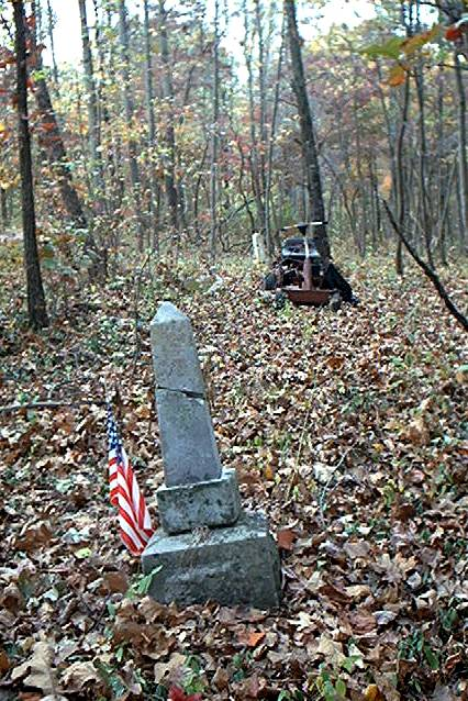 Graves in the woods at Mt. Hebron Cemetery